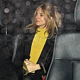 Pregnant Sienna Miller left London's Groucho Club.