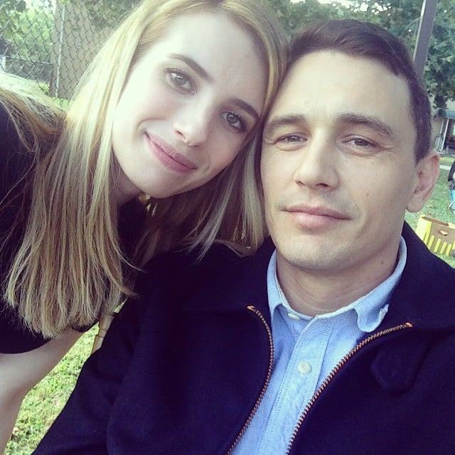 Emma Roberts And James Franco Took A Selfie On The Set Of Their New