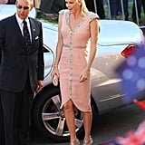 Princess Charlene of Monaco wearing custom Johanna Johnson.