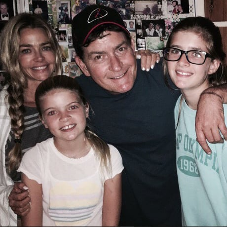 Charlie Sheen Photo With Daughters August 2016
