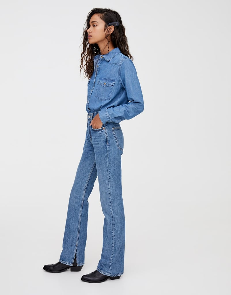 pull&bear High-Rise Jeans With Slits