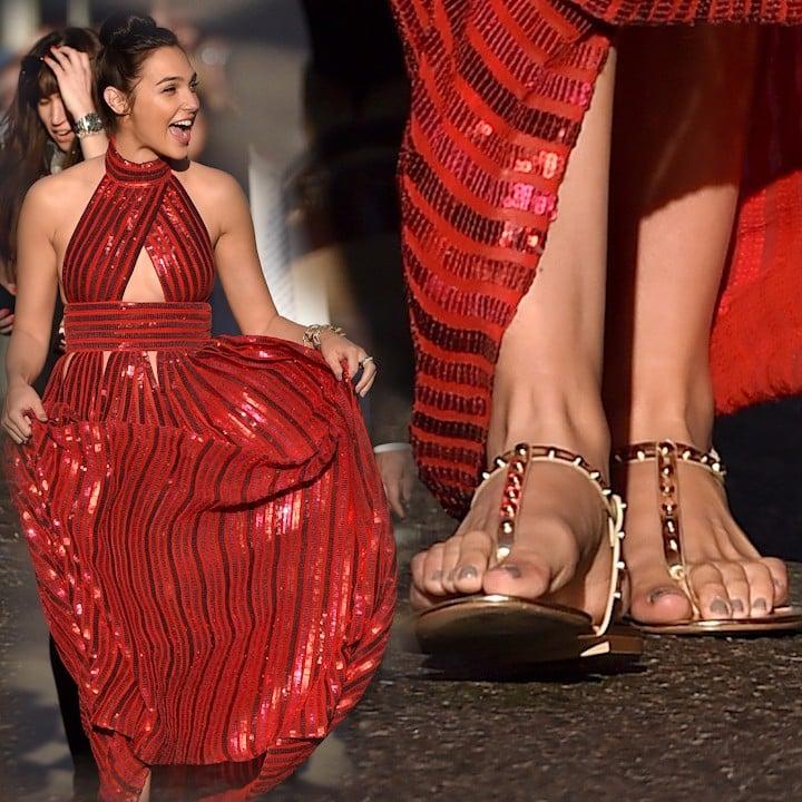 Gal gadots love of flat shoes popsugar fashion voltagebd Choice Image