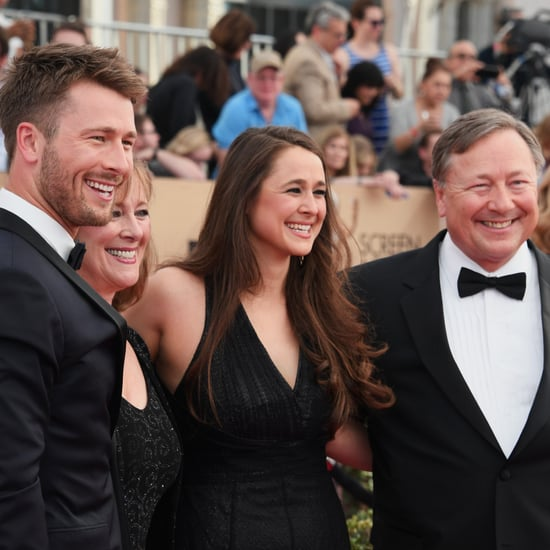 Glen Powell and His Family at the 2017 SAG Awards