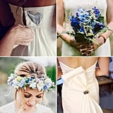 """As far as wedding traditions go, the four """"somethings"""" a bride should wear as she walks down the aisle are a treasured tradition. But with the stress that goes into modern-day wedding planning, sometimes little things can fall through the cracks. If you're stumped on your something blue, there's nothing to worry about. POPSUGAR Fashion has rounded up some seriously gorgeous inspiration for your big day. Source: The Robertsons,  Alissa Ferullo Photography, Zac Wolf Photography, and Sequins and Candy Photography  via Style Me Pretty"""