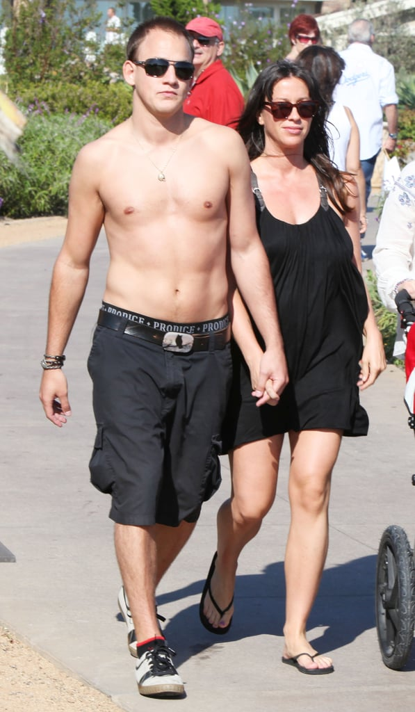 Pictures of Pregnant Alanis Morissette With Shirtless Hubby