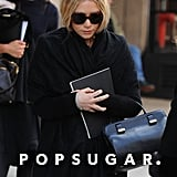 Mary-Kate Olsen clutched a notepad in NYC.