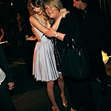 Taylor pulled her mom in for a hug as they hung out backstage at Brooks & Dunn's The Last Rodeo Show in April 2010.