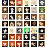 "A Collection of Penley's ""Minimal Pop Culture"" Characters"