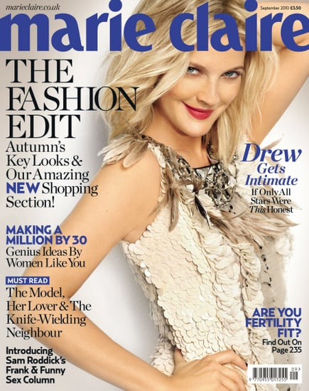 Drew Barrymore does Marie Claire UK-september 2010