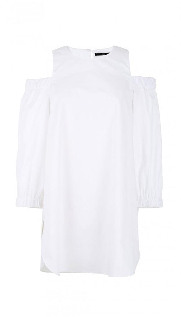 Tibi Satin Poplin Cut Out Shoulder Tunic ($207, originally $295)