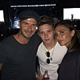 David and Victoria accompanied Brooklyn to Beyoncé and Jay Z's Coachella set in April 2015.