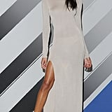 For the body-con style setter, this long-sleeved Rihanna For River Island Fall 2013 dress dares to bare a little more leg.