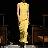 A Backless Yellow Dress From the Emilia Wickstead Fall 2020 Runway at London Fashion Week