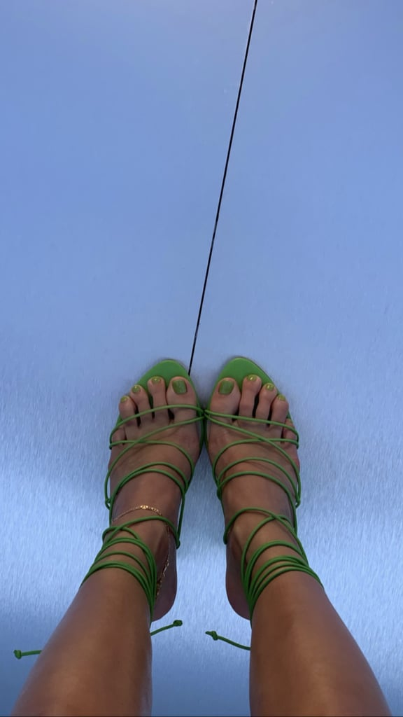 Kendall Jenner's Green Pistachio Pedicure