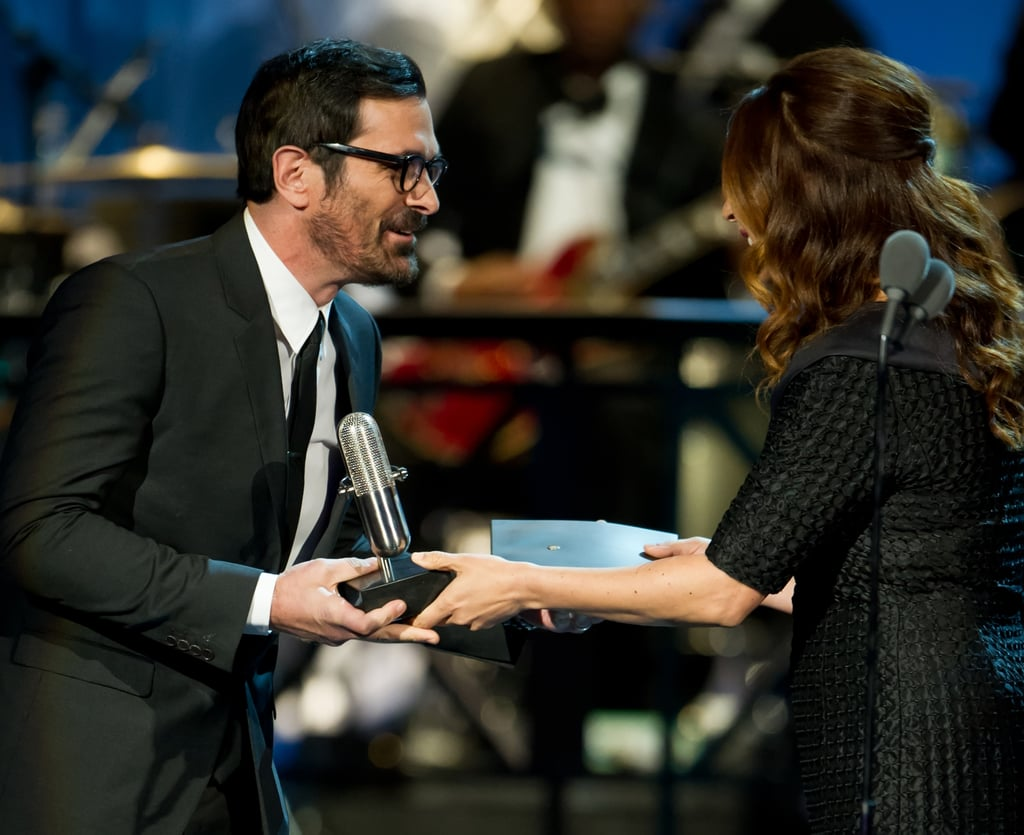 Ty Burrell was on stage with Maya Rudolph at the Comedy Awards in NYC.