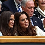 Kate Middleton pointed something out to her sister Pippa.