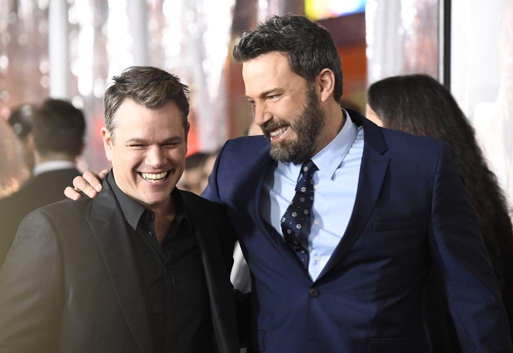 Ben Affleck and Matt Damon at Live by Night Premiere