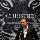 Leonardo DiCaprio cohosted an art auction with NYC's Christie's to benefit his foundation.