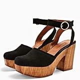 Topshop Gabby Closed Leather Platform Clogs