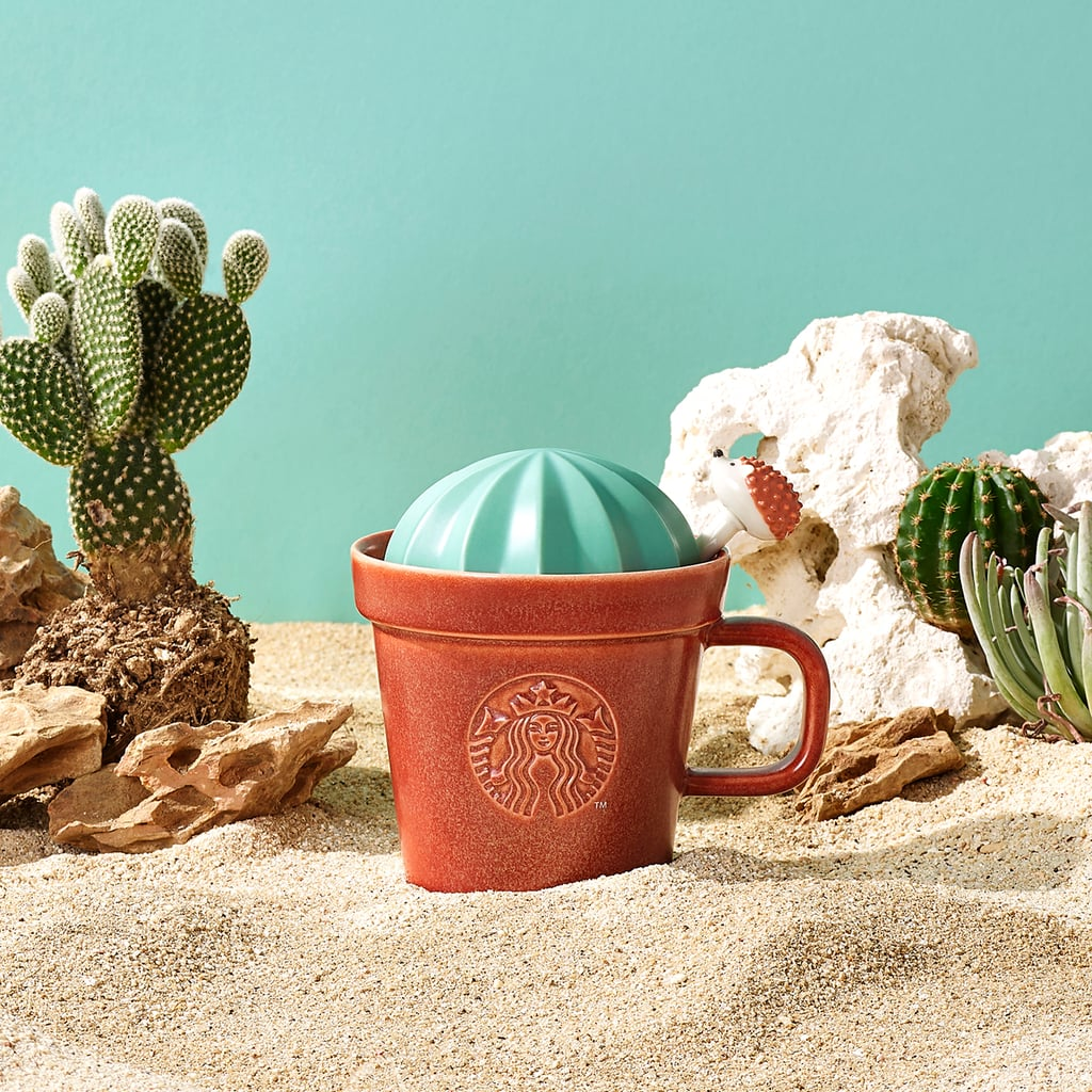 Starbucks is embracing the desert vibes ahead of warm summer weather. As we get more daylight and opportunities to explore nature, it just feels right to have something new to sip on. Luckily, the coffee chain is supplying its 14 Asia-Pacific markets with a collection of playful new reusable cups, tumblers, and more that really encapsulate the outdoorsy energy of the next few months.  The Starbucks line will include adorable succulent mugs, hedgehog bottles with cactus toppers, and sunshiney glass water bottles. Sadly, this collection isn't available for US shoppers, but we can certainly admire from afar — for summer inspiration, if nothing else! Get a closer look at the full line of products, ahead.       Related:                                                                                                           Starbucks's Low-Calorie French Toast Shaken Espresso Is a Secret We Need to Share