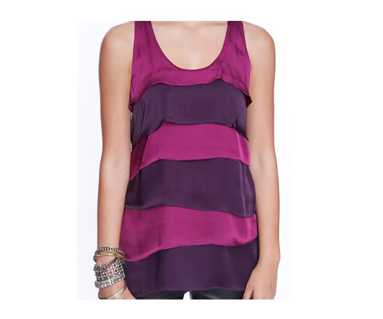 Forever 21 Sleeveless Tiered Satin Tank