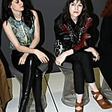 Kristen Stewart and Charlotte Gainsbourg took their front row seats before the presentation began.
