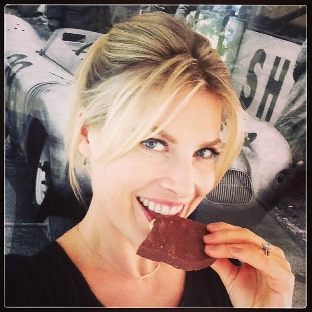 "Ali Larter snapped this selfie with the caption, ""When husbands drive you nutty, eat a big chunk of chocolate!"" Source: Instagram user therealalil"