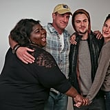 The cast of White Bird in a Blizzard got close on Monday.
