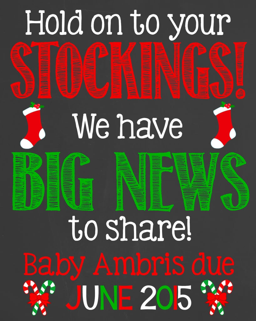 Cute Holiday Pregnancy Announcement Ideas | POPSUGAR Moms