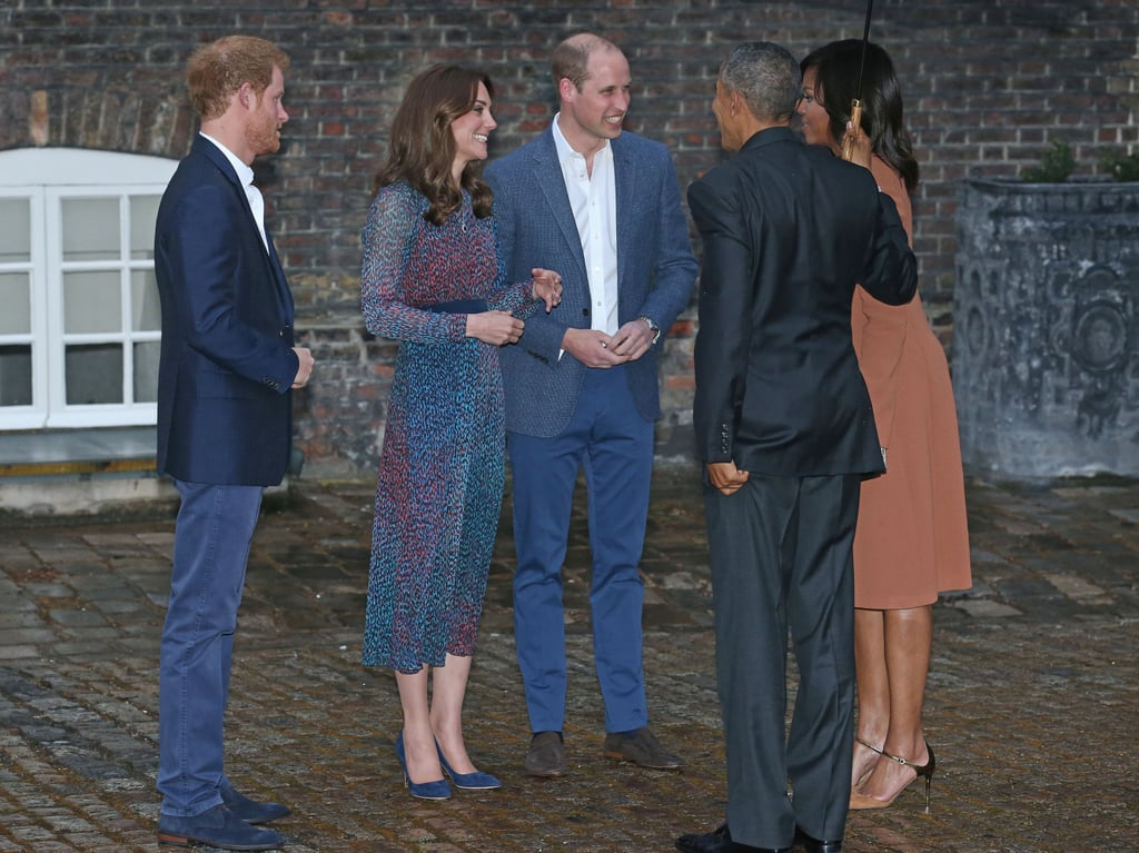 The Royal Duo Went With Blue While Greeting the President and First Lady of the United States