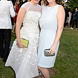 With Princess Eugenie at the Serpentine Summer Party in 2014.