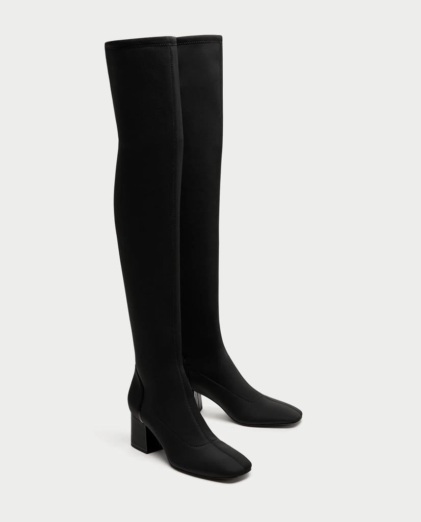 Zara Over-the-Knee Fabric Boots