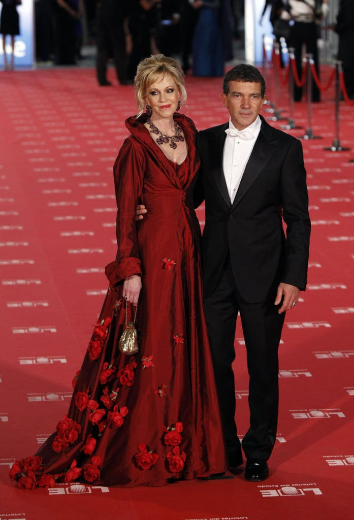 Antonio Banderas and Melanie Griffith posed for photos at the Goya Awards.