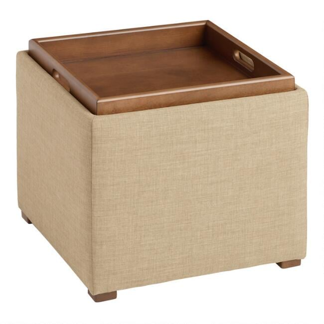 Square Ryan Modular Storage Ottoman With Tray Top Best Apartment