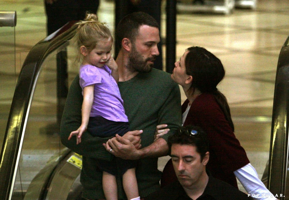 Violet Affleck joined loving parents Jennifer Garner and Ben Affleck on a trip in November 2008.