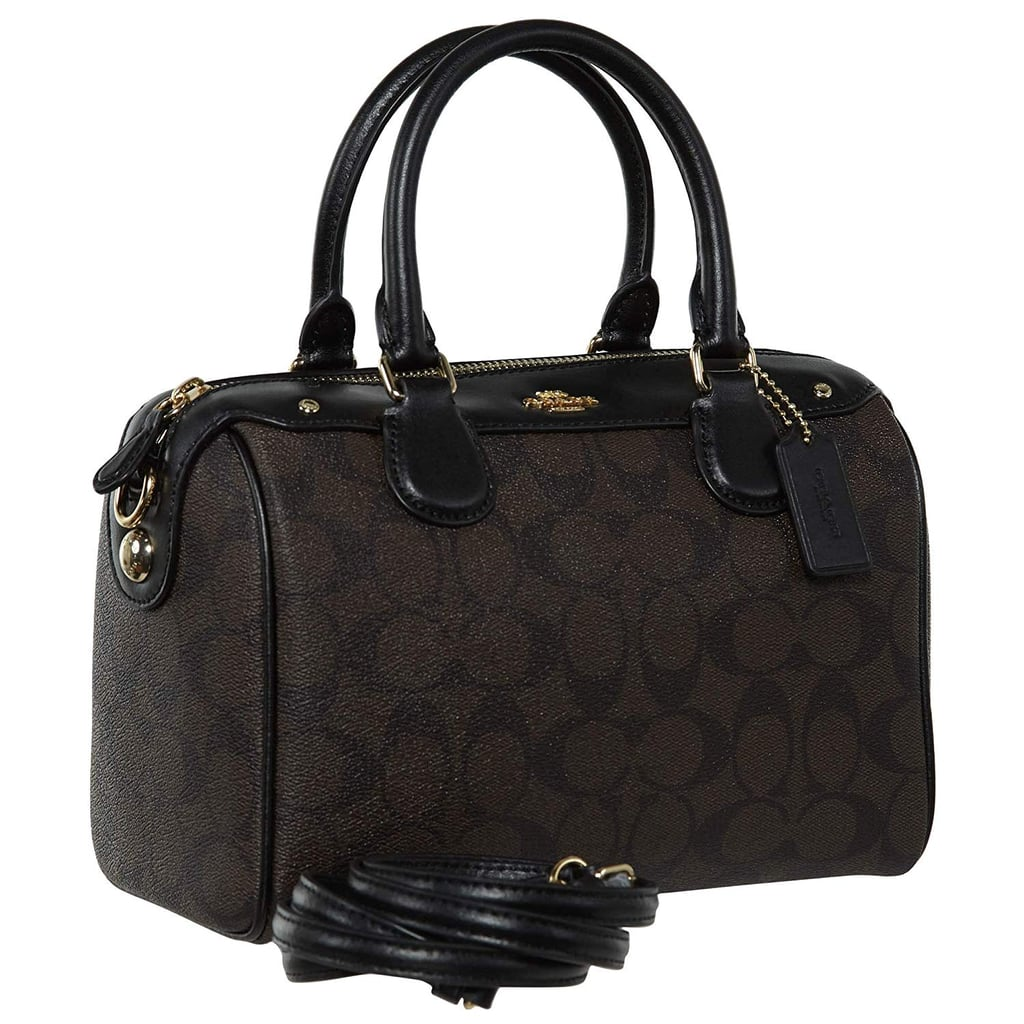 Shop Similar: Coach Signature Mini Bennett Crossbody Satchel Black Brown