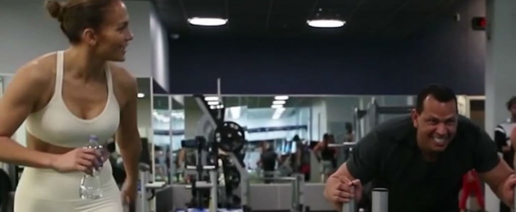 Jennifer Lopez and Alex Rodriguez Dallas Cowboys Workout