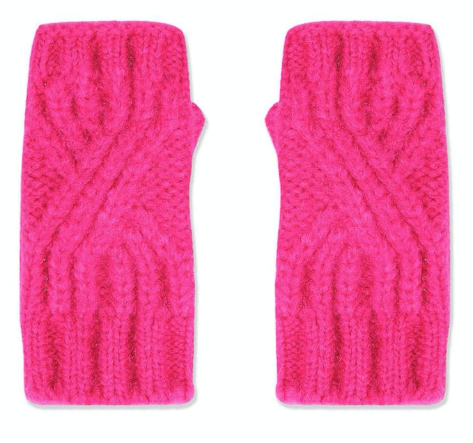 Topshop Cable Knit Handwarmers