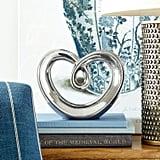 Silver Heart Sculpture