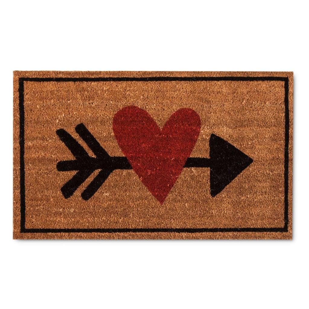 Heart With Arrow Door Mat
