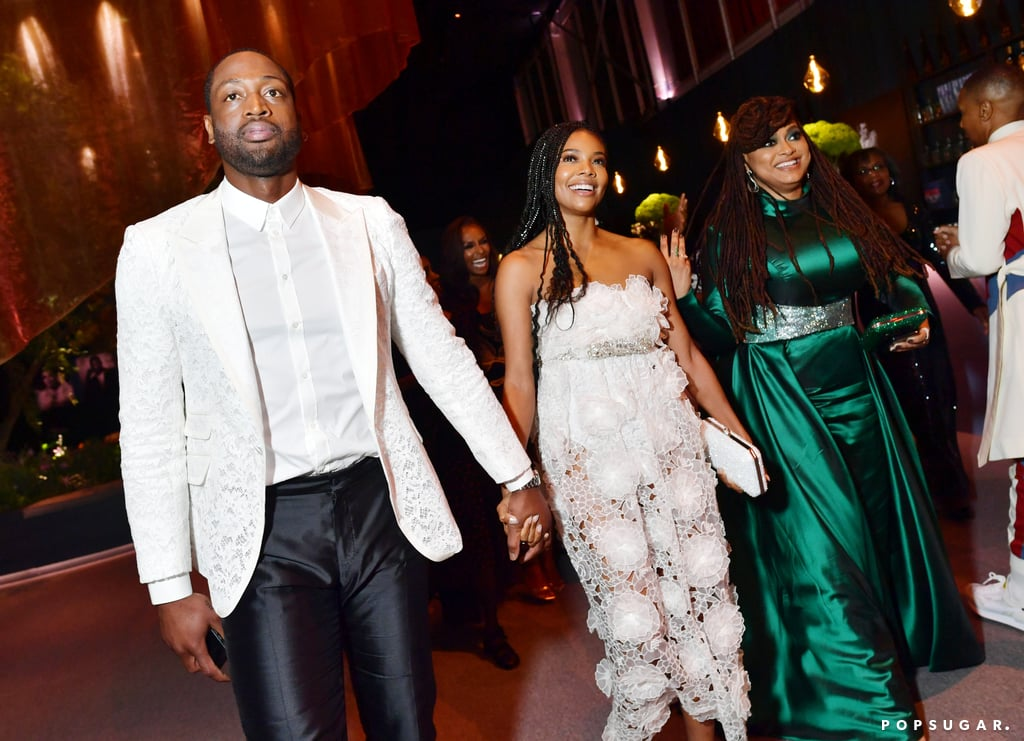 Dwyane Wade, Gabrielle Union, and Ava DuVernay at the Vanity Fair Oscars Party