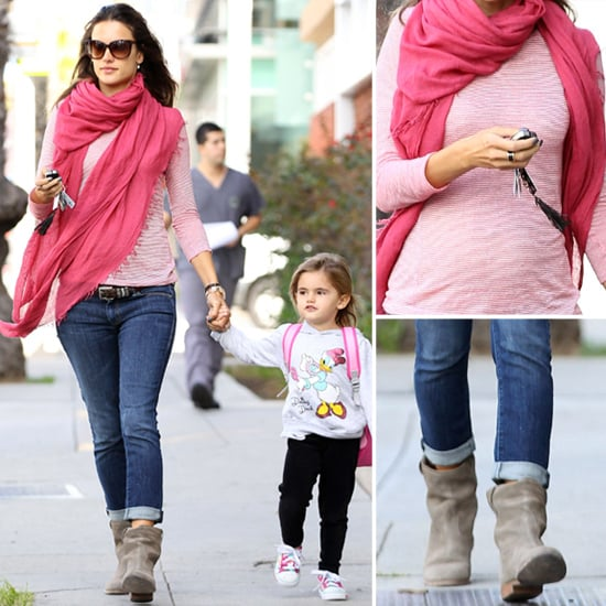 Alessandra Ambrosio Pink Scarf