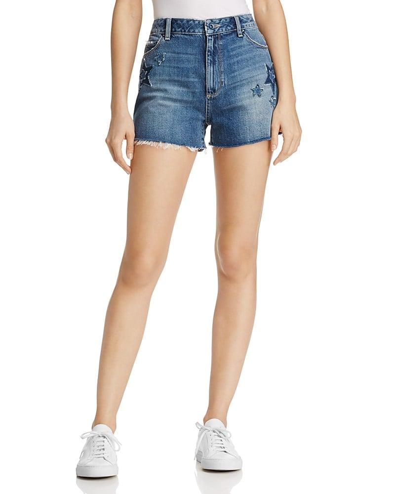 Paige Margot Star Patch Denim Shorts