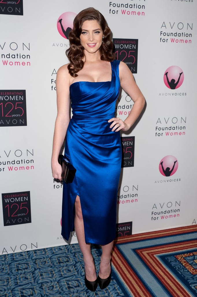 A pretty-meets-sexy one-shouldered Donna Karan for the Avon Foundation for Women Global Voices for Change Gala in 2011.