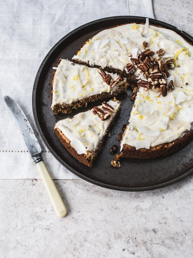 Not-Carrot Cake With Lemon Frosting