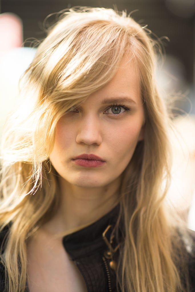 Sideswept bangs with soft waves are always flattering. Source: Le 21ème | Adam Katz Sinding