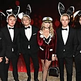 R5 Hugh Hefner and Playboy Bunny Halloween Costume 2017