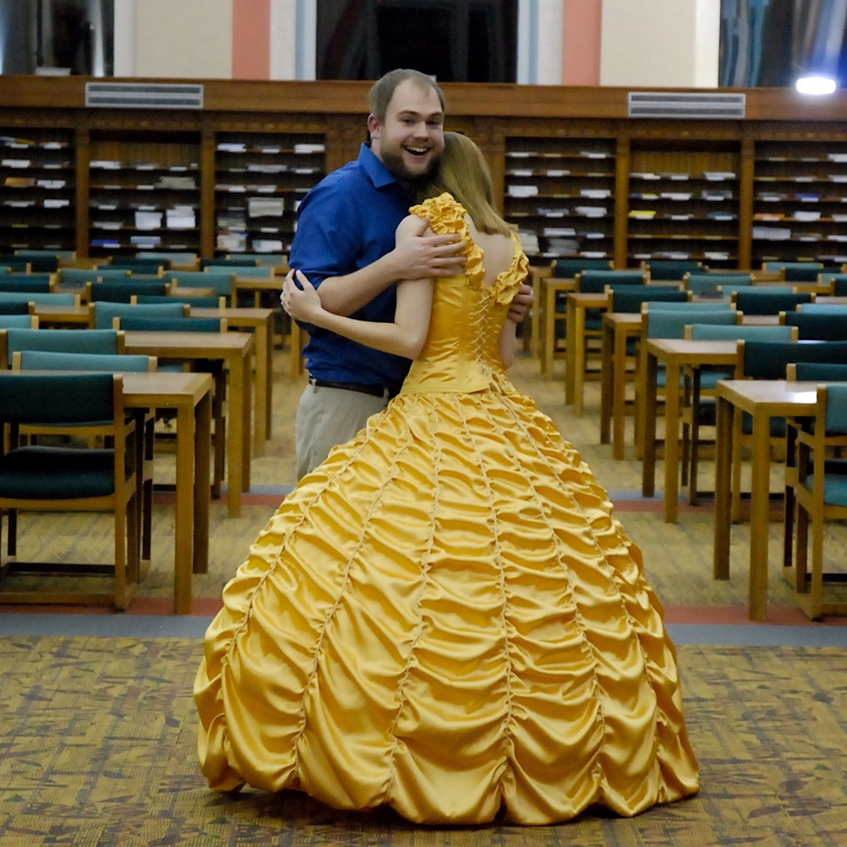 Guy Sews Belle Gown For Beauty and the Beast Proposal | POPSUGAR ...