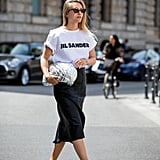 Style Them With a Slogan Tee and Midi Skirt