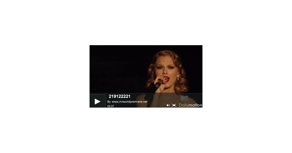 Video Of Taylor Swift S Kanye West Song Innocent From The 2010 Mtv Vmas Popsugar Entertainment